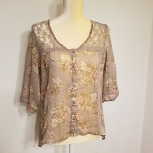 Muave floral love squared top size small unworn